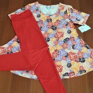 LULAROE OUTFIT! M- PERFECT-T with TC- LEGGINGS